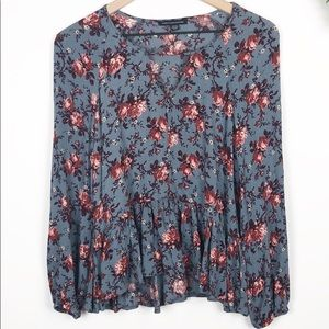 American Eagle flowy floral tunic top